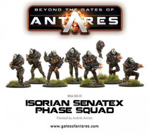 Warlord Games Beyond the Gates of Antares  SALE! Isorian Senatex Phase Squad - WGA-ISO-01 - 5060393703525
