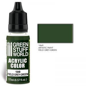 Green Stuff World   Acrylic Paints Acrylic Color FIELD GREEN-GREY - 8436574502084ES - 8436574502084