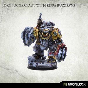 Kromlech   Orc Model Kits Orc Juggernaut with Rippa Buzzsaws - KRM049 - 5902216111721
