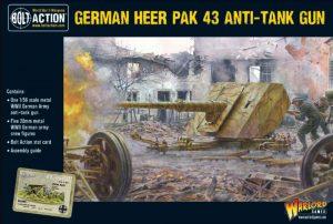 Warlord Games Bolt Action  Germany (BA) German Heer Pak 43 Anti-Tank Gun - 402212008 - 5060572502482