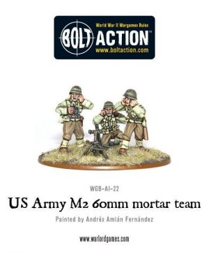 Warlord Games Bolt Action  United States of America (BA) US Army M2 60mm mortar team - WGB-AI-22 - 5060200846926