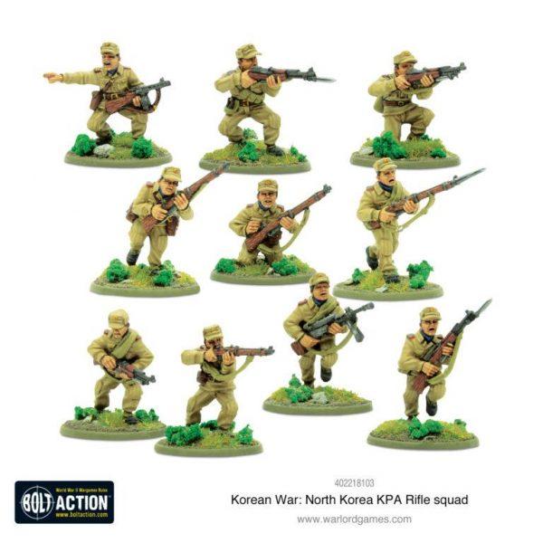 Warlord Games Bolt Action  Korean War (1950-1953) North Korean KPA Rifle Squad - 402218103 - 5060572503724