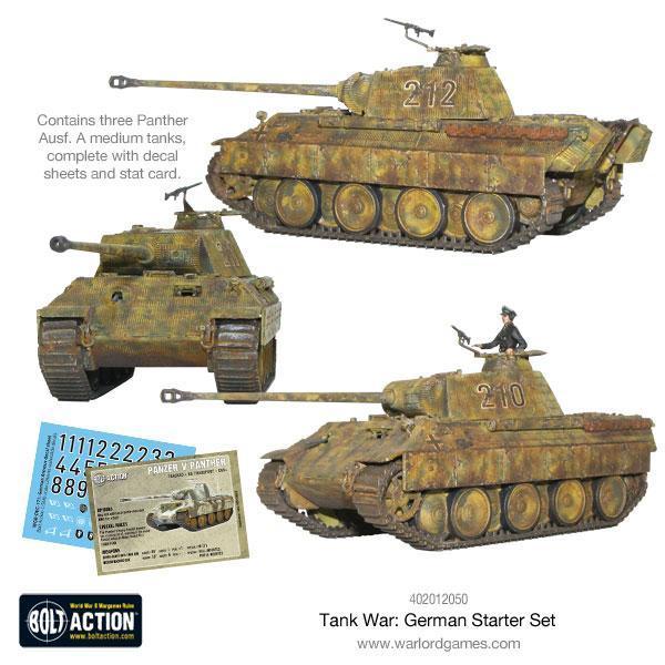 Warlord Games Bolt Action  Tank War Tank War: German starter set - 409912050 - 5060393707769