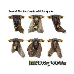 Kromlech   Legionary Conversion Parts Sons of Thor Fur Cloacks with Backpacks (6) - KRCB075 - 5902216110731