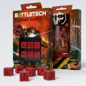 Q-Workshop   Q-Workshop Dice Battletech House Kurita D6 Dice set (6) - SBKU04 - 5907699493098