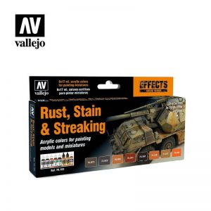 Vallejo   Paint Sets Model Color Set - Rust, Stains and Streaking (x8) - VAL70183 - 8429551701839