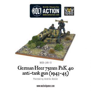 Warlord Games Bolt Action  Germany (BA) German Heer 75mm PaK 40 anti-tank gun - WGB-LHR-13 - 5060200846193