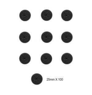 Games Workshop (Direct)   Plain Bases Citadel 25mm Round Bases (100 Pack) - 99229999141 - 5011921067763