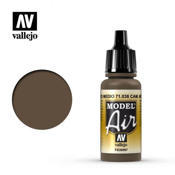 Vallejo   Model Air Model Air: Camouflage Medium Brown - VAL038 - 8429551710381