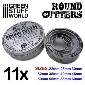 Green Stuff World   Stamps & Punches Round Cutters for Bases - 8436574500585ES - 8436574500585