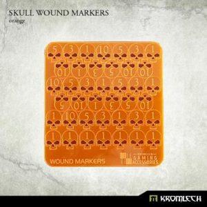 Kromlech   Status & Wound Markers Skull Wound Markers [orange] - KRGA045 - 5902216115125