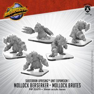 Privateer Press Monsterpocalypse  SALE! Monsterpocalypse Subterran Uprising Mollock Brutes & Berserker - PIP51079 - 875582025433