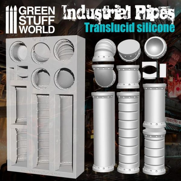 Green Stuff World   Mold Making Silicone Molds - Industrial Pipes - 8436574505238ES - 8436574505238