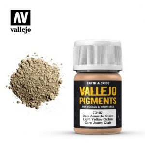 Vallejo   Pigments Vallejo Pigment - Light Yellow Ocre - VAL73102 - 8429551731027