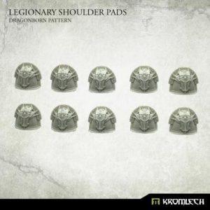 Kromlech   Heretic Legionary Model Kits Legionary Shoulder Pads: Dragon Pattern (10) - KRCB235 - 5902216119260