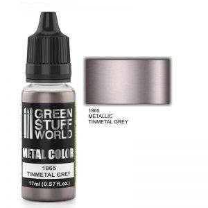 Green Stuff World   Acrylic Metallics Metallic Paint TINMETAL GREY - 8436574502244ES - 8436574502244