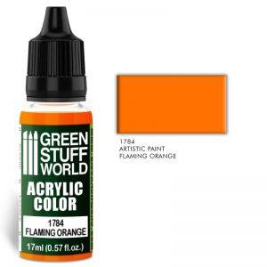 Green Stuff World   Acrylic Paints Acrylic Color FLAMING ORANGE - 8436574501438ES - 8436574501438