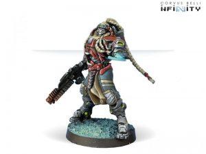 Corvus Belli Infinity  Combined Army Kornak Gazarot, Superior Warrior-Officer - 280664-0494 - 2806640004945