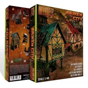 Green Stuff World   Green Stuff World Terrain Broken City - Terrain Set - 8436574507874ES - 8436574507874