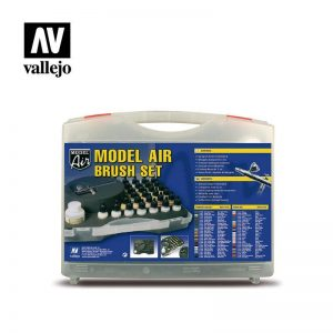 Vallejo   Paint Sets Vallejo Model Air: Basic Colors & Airbrush Set - VAL71172 - 8429551711722