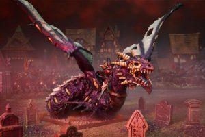 Mantic Kings of War  Undead Undead Vampire Lord on Undead Dragon - MGKWU204 - 5060469662190