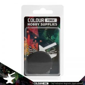 The Colour Forge   Magnets Self-adhesive magnetic discs 40mm x5 - TCF-MDI-002 - 5060843101413