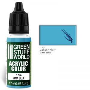 Green Stuff World   Acrylic Paints Acrylic Color ZIMA BLUE - 8436574501537ES - 8436574501537