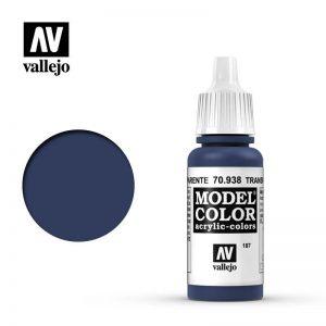 Vallejo   Model Colour Model Color: Transparent Blue - VAL938 - 8429551709385