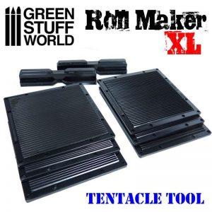 Green Stuff World   Texture Plates / Presses Roll Maker Set - Tentacles - XL version - 8436554369263ES - 8436554369263