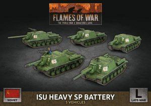 Battlefront Flames of War  SALE! Soviet ISU Heavy SP Battery - SBX63 - 9420020251359