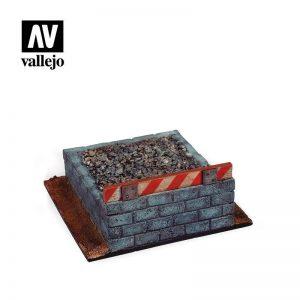 Vallejo   Vallejo Scenics Vallejo Scenics - Scenery: Railroad Buffer Block - VALSC120 - 8429551987103