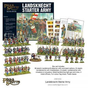 Warlord Games Pike & Shotte  Italian Wars 1494-1559 Landsknecht Starter Army - 209916002 - 5060393709732