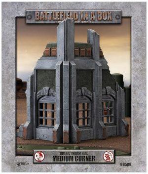 Gale Force Nine   Battlefield in a Box Gothic Industrial - Medium Corner (x1) - 30mm - BB598 - 9420020247901