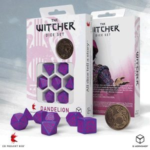 Q-Workshop   The Witcher Dice The Witcher Dice Set: Dandelion - The Hearts' Conqueror - SWDA3R - 5907699496129