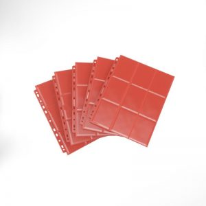 Gamegenic   SALE! Gamegenic Sideloading 18-Pocket Pages Red (50 pack) - GGS30008ML - 4251715403358