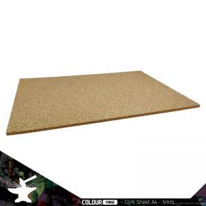The Colour Forge   Cork Cork Sheet 5mm A4 - TCF-BAS-015 - 5060843100881