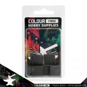 The Colour Forge   Plain Bases Plastic Bases - 20mm Square x10 - TCF-PPB-006 - 5060843101130