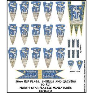 North Star Oathmark  Oathmark Elf Banner and Shields 2 - ELF(NS)2 -