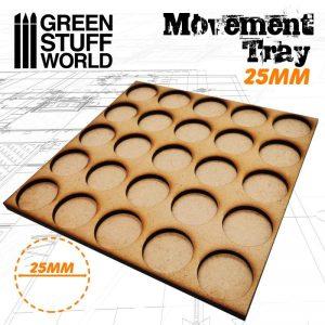 Green Stuff World   Movement Trays MDF Movement Trays 25mm 5x5 - Skirmish Lines - 8436574502886ES - 8436574502886