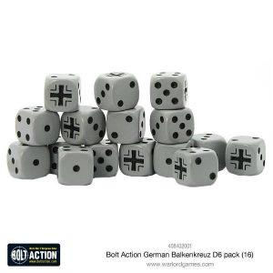 Warlord Games Bolt Action  Bolt Action Books & Accessories German Balkenkreuz D6 Dice (16) - 408402001 - 5060393708612