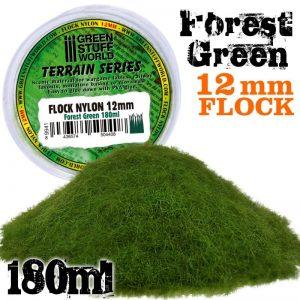 Green Stuff World   Sand & Flock Static Grass Flock 12mm - Forest Green - 180 ml - 8436574504408ES - 8436574504408