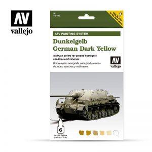 Vallejo   Paint Sets AV Armour Set - AFV Dunkelgelb - VAL78401 - 8429551784016