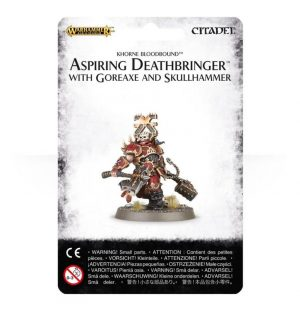 Games Workshop (Direct) Age of Sigmar  Blades of Khorne Aspiring Deathbringer with Goreaxe and Skullhammer - 99070201016 - 5011921066919