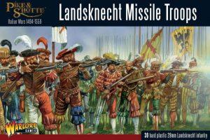 Warlord Games Pike & Shotte  SALE! Landsknecht Missile Troops - 202016003 - 5060393709459