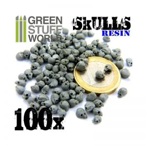 Green Stuff World   Green Stuff World Conversion Parts 100x Resin Skulls - 8436554363438ES - 8436554363438