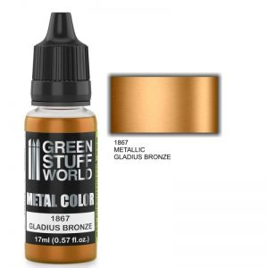 Green Stuff World   Acrylic Metallics Metallic Paint GLADIUS BRONZE - 8436574502268ES - 8436574502268