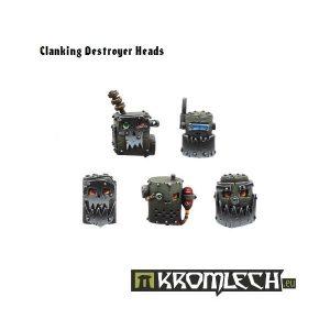Kromlech   Orc Conversion Parts Clanking Destroyer Heads (10) - KRCB022 - 5902216110205