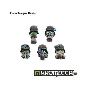 Kromlech   Imperial Guard Conversion Parts Chem Trooper Heads in Gasmasks (10) - KRCB031 - 5902216110298