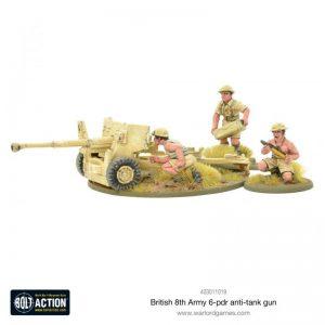 Warlord Games Bolt Action  Great Britain (BA) 8th Army 6 pounder ATG - 403011019 - 5060572501096