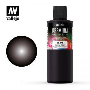 Vallejo   Premium Airbrush Colour AV Vallejo Premium Color - 200ml - Candy Black - VAL63079 - 8429551630795